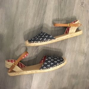 Sperry Top Sider Hope Espadrille Anchor Sandals 12